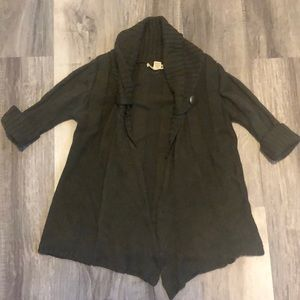 Dark olive short sleeved cardigan